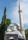 Karagoz Bey Mosque in Mostar city Bosnia and Herzegovina poster
