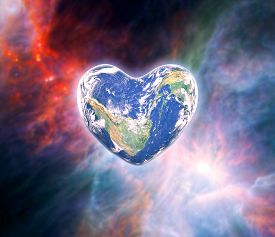 The Earth In The Shape Of A Heart, Elements Of This Image Furnished By Nasa