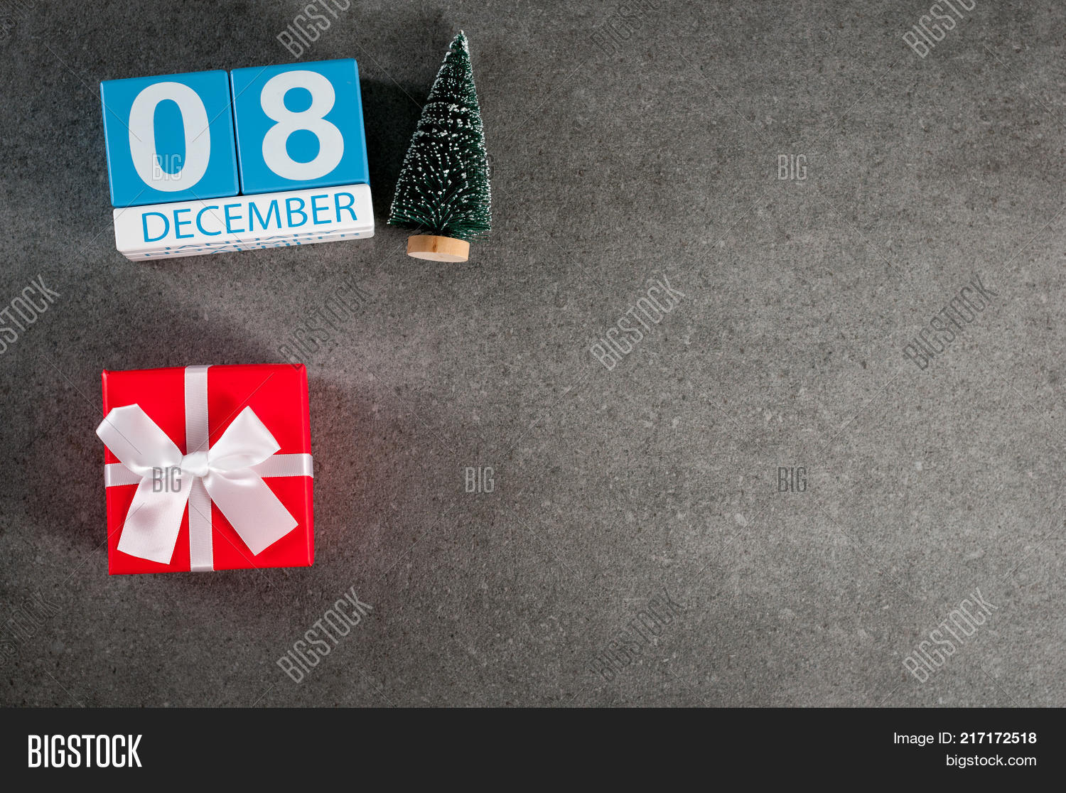 december 8th image 8 day of december month calendar with x mas gift