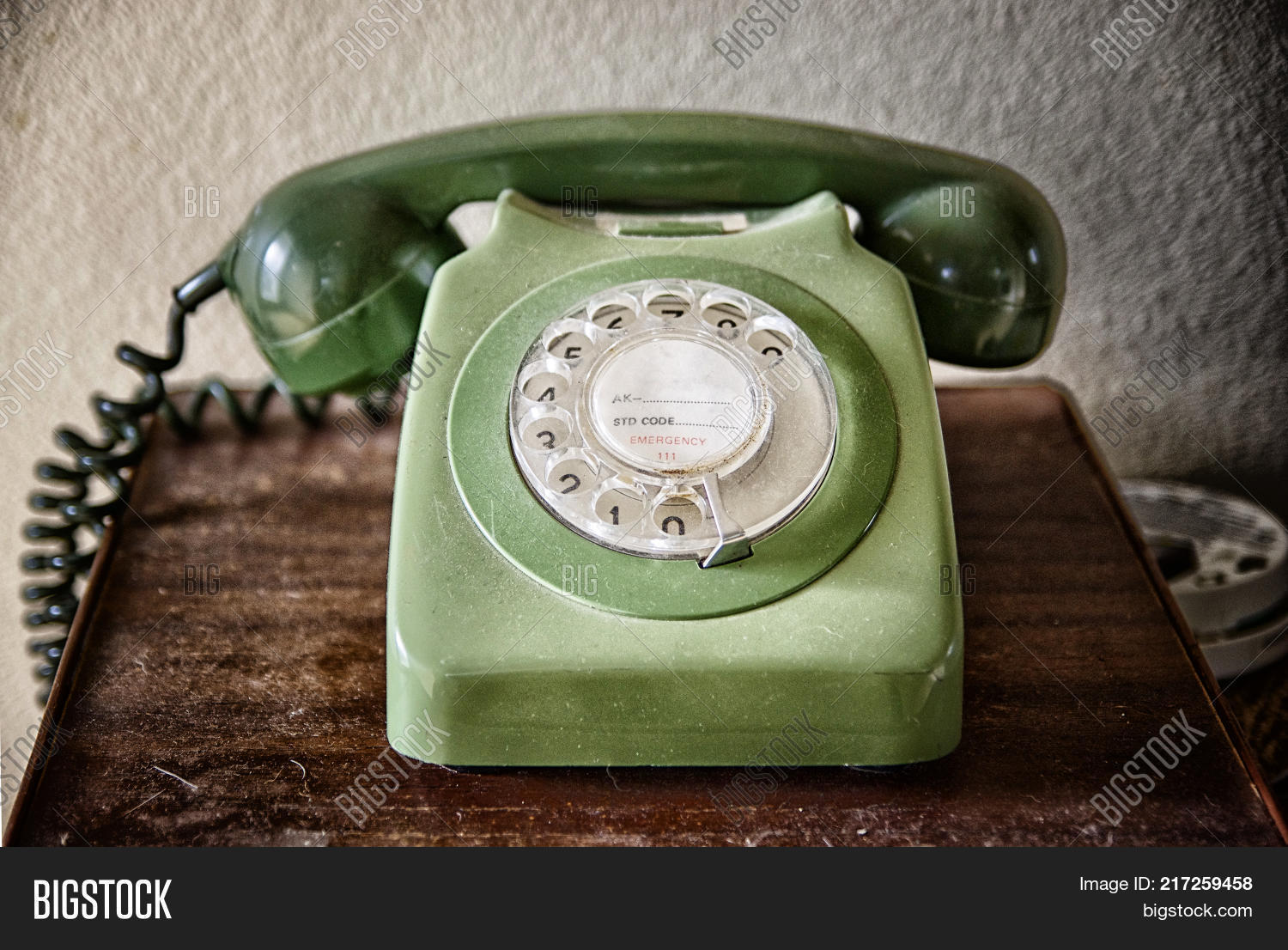 Close Old Telephone On Image & Photo (Free Trial) | Bigstock