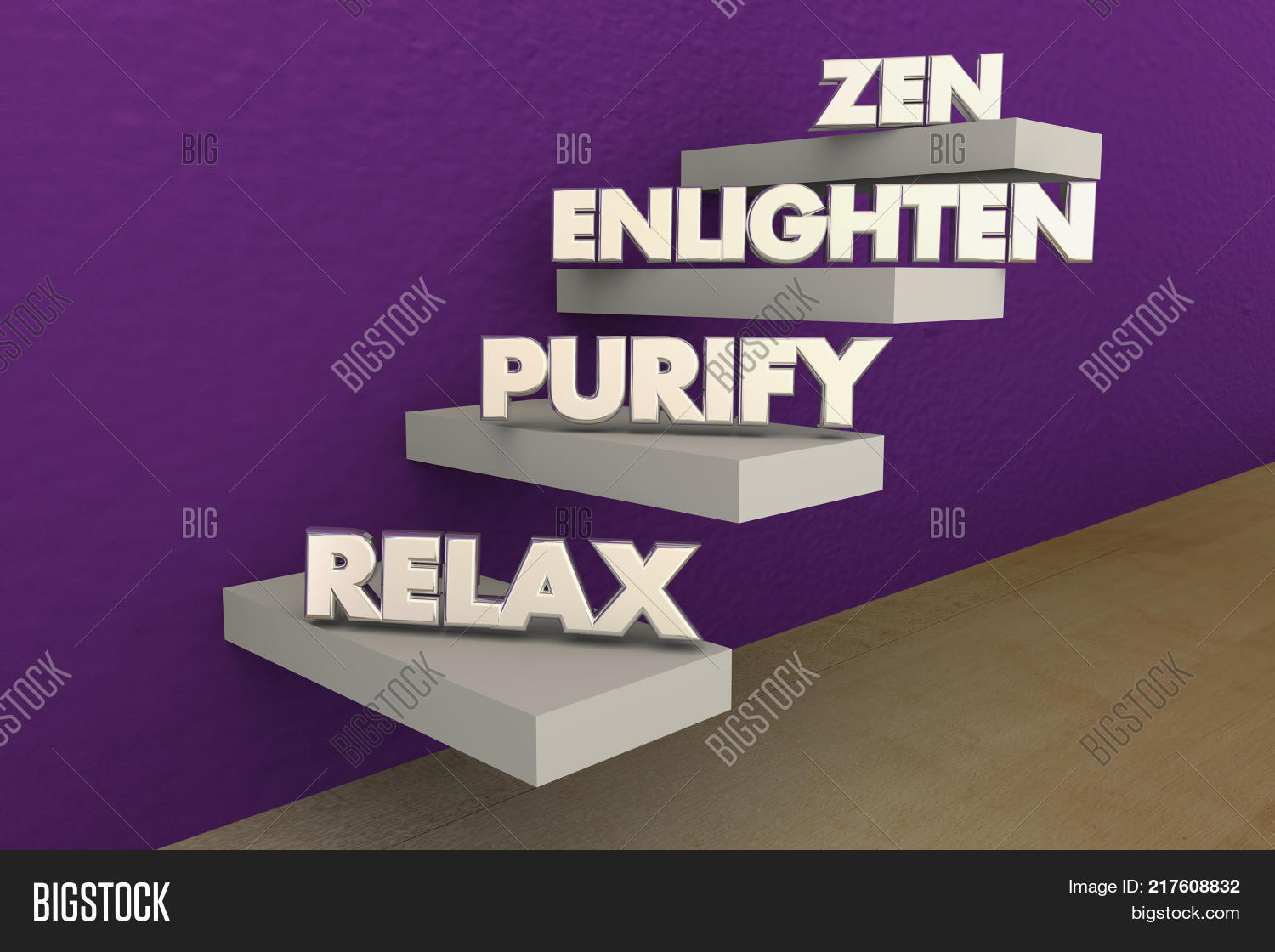 Zen Steps Levels Relax Image & Photo (Free Trial) | Bigstock