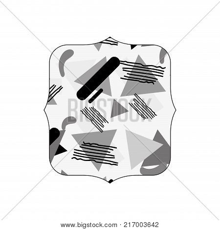 grayscale quadrate with style geometric memphis background vector illustration