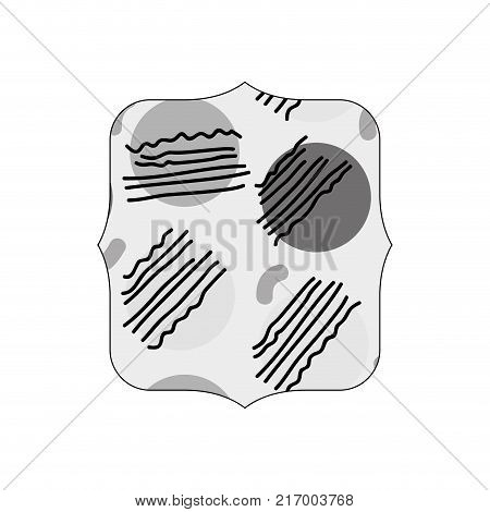 grayscale quadrate with graphic style geometric background vector illustration