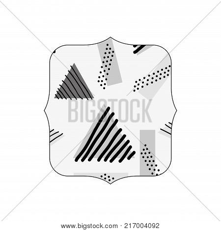 grayscale quadrate with geometric style memphis background vector illustration
