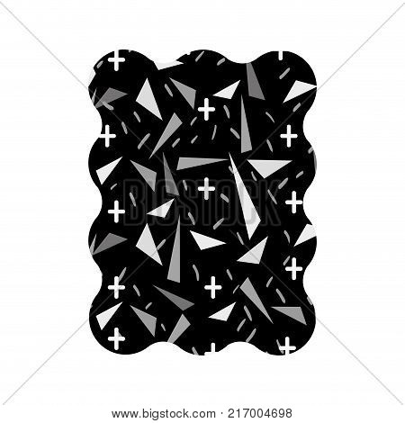 contour grayscale rectangle with geometric graphic style background vector illustration