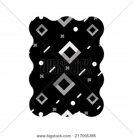contour grayscale rectangle with graphic geometric style background vector illustration