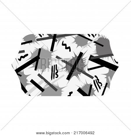 grayscale contour rectangle with graphic style figure background vector illustration