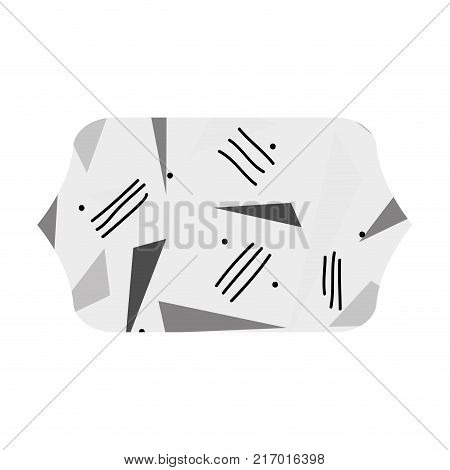 grayscale contour rectangle with style geometric figure background vector illustration