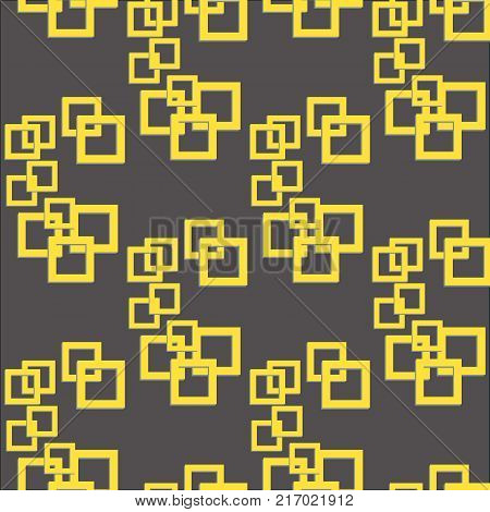 Geometric hi-tech seamless pattern background. Vector illustration.