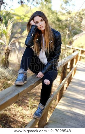 Young Girl Outdoors