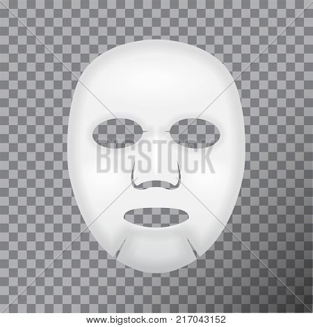 Facial Mask Cosmetics. Vector package design for face mask on transparent background for your design