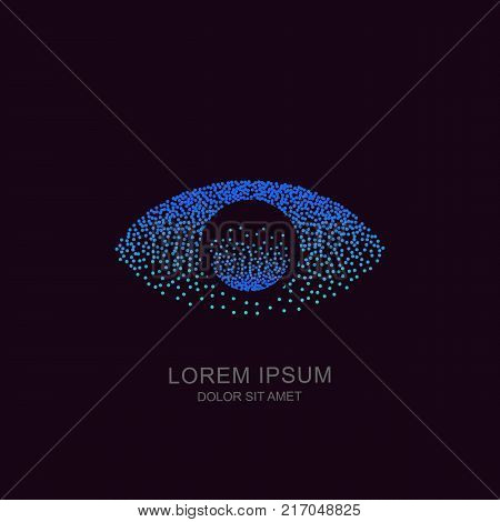 Eye Vector Tech Logo, Sign Or Emblem Design. Concept For Biometric Recognition, Cctv, Retina Scan, C