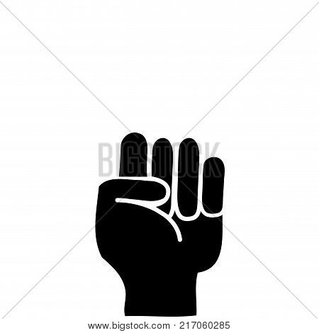 contour hand with oppose gesture symbol communication vector illustration