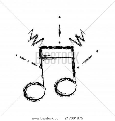 figure musical note sign to rhythm sound vector illustration