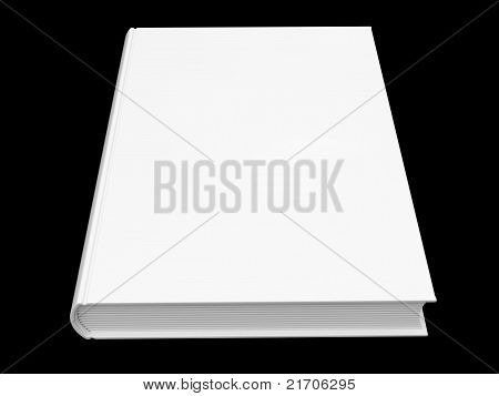 White Book Isolated On Black Background