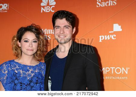 LOS ANGELES - DEC 3:  Tatiana Maslany, Ben Lewis at the 2017 TrevorLIVE Los Angeles at Beverly Hilton Hotel on December 3, 2017 in Beverly Hills, CA