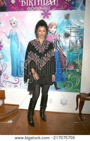 LOS ANGELES - NOV 26:  Kelly Hu at the Amelie Bailey 2nd Birthday Party at Private Residence on November 26, 2017 in Studio City, CA