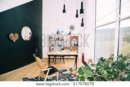 WEIL AM RHEIN, GERMANY - NOVEMBER 26, 2017: Interior inside VitraHaus building.