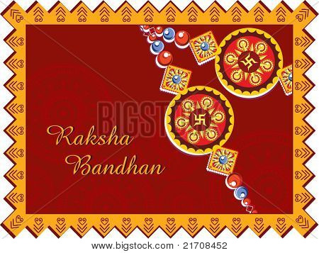 greeting card for rakshabandhan celebration