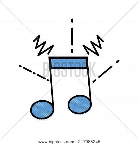 grated musical note sign to rhythm sound vector illustration