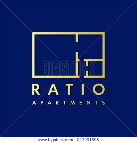 Real estate vector logo design template for corporate identity. Apartment plan icon template layout.