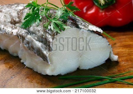 Delicious cod fillet