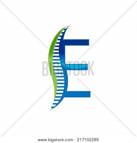 E letter chiropractic abstract vector logo design template. chiropractic Medicine, Healthcare design