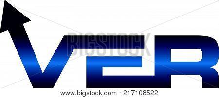 Modern Logo Solution Letter V E R Logo Design Template Vector