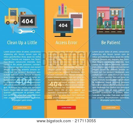 Web Maintenance Banner Concept | Set of great banner design illustration concepts for maintenance, website, internet, network and much more.