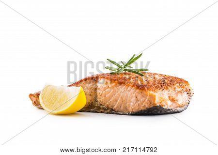 Salmon Fish. Salmon Fillet Isolated On White