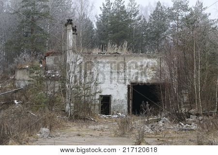 The Old Destroyed Military Base Of Missile Forces After The Explosions With The Command Post And The
