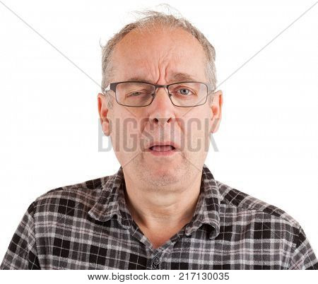 Man undecided and procrastinating about something