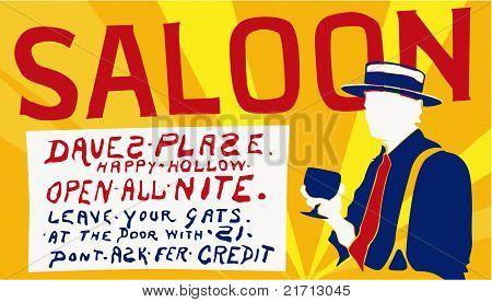 Vector Saloon Sign
