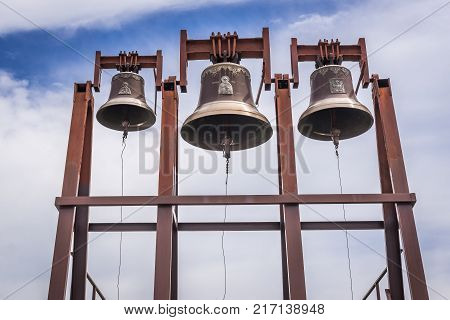 Bells in St John the Theologian Orthodox male monastery in Khreshchatyk Ukraine