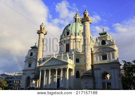 St. Charles's Church in the Vienna Austria