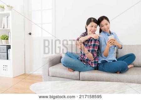 Girl Taking Humor Joke Story For Her Sister