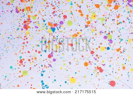 Colorful Water Color Splash Background..