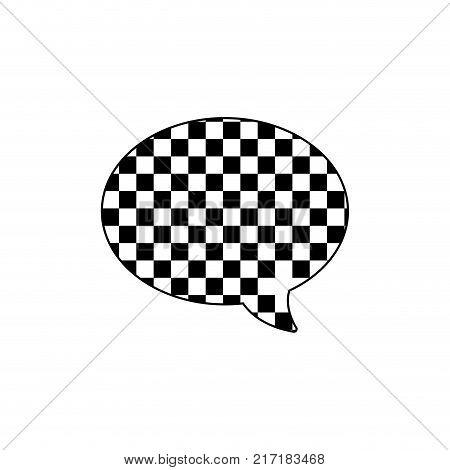 line oval chat bubble text message style vector illustration