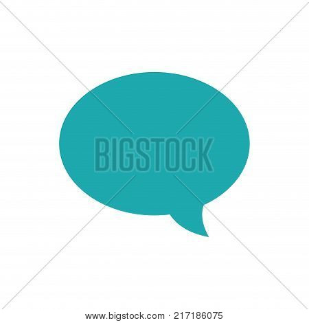 full color oval chat bubble art text message vector illustration