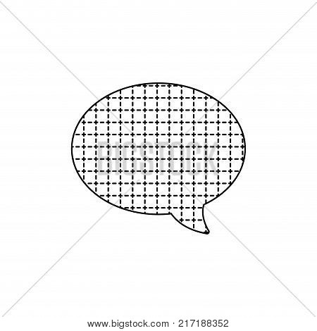 dotted shape oval chat bubble text message style vector illustration