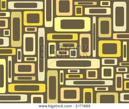 Retro Yellow Rectangles Background