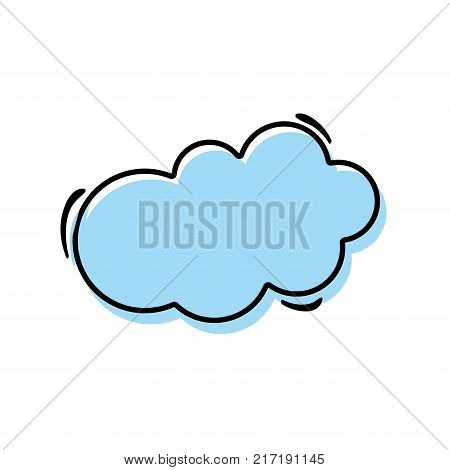 color nice cloud natural weather over white background vector illustration