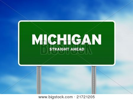 Sinal de estrada de Michigan