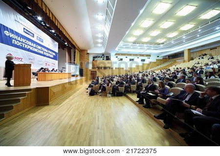 MOSCOW, RUSSIA - DECEMBER 10: The first annual Financial Forum