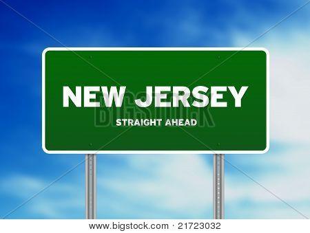 Sinal de estrada de Nova Jersey