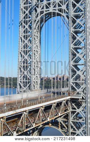 George Washington Bridge in New York City.