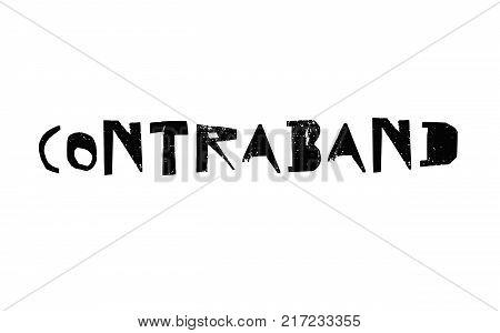Contraband. Typographic stamp visualisation concept Original series.