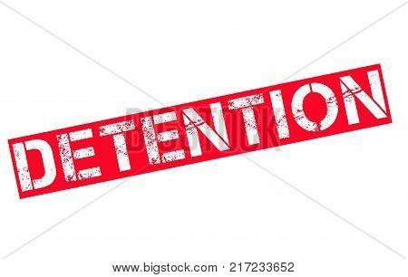 Detention. Typographic stamp visualisation concept Original series.