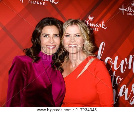 LOS ANGELES - DEC 4:  Kristian Alfonso, Alison Sweeney at the Christmas At Holly Lodge Screening at 189 The Grove Drive on December 4, 2017 in Los Angeles, CA