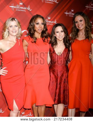LOS ANGELES - DEC 4:  Alison Sweeney, Holly Robinson Peete, Lacey Chabert, Rachel Boston at the Christmas At Holly Lodge Screening at 189 The Grove Drive on December 4, 2017 in Los Angeles, CA